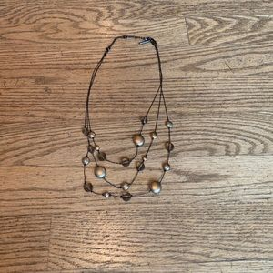 Kenneth Cole Multi-chain Beaded Necklace